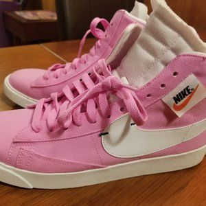 New Nike Blazer Pink Hightops (Women's Size 10)